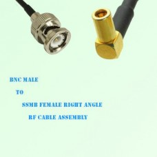 BNC Male to SSMB Female Right Angle RF Cable Assembly
