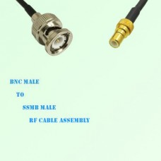 BNC Male to SSMB Male RF Cable Assembly