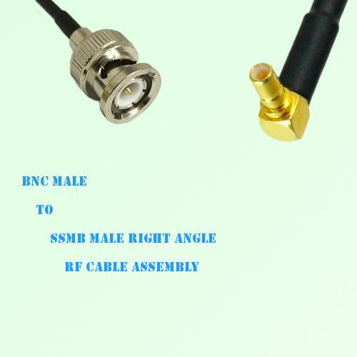 BNC Male to SSMB Male Right Angle RF Cable Assembly