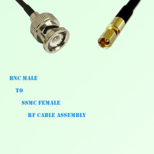BNC Male to SSMC Female RF Cable Assembly