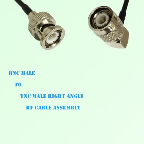 BNC Male to TNC Male Right Angle RF Cable Assembly