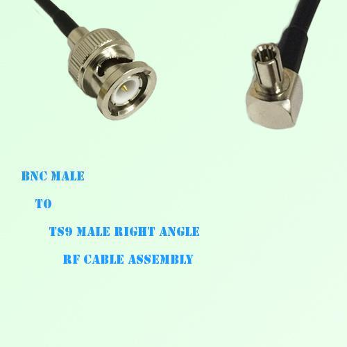 BNC Male to TS9 Male Right Angle RF Cable Assembly