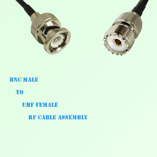 BNC Male to UHF Female RF Cable Assembly