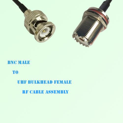 BNC Male to UHF Bulkhead Female RF Cable Assembly