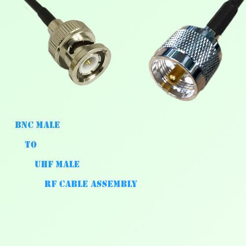 BNC Male to UHF Male RF Cable Assembly