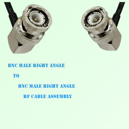 BNC Male Right Angle to BNC Male Right Angle RF Cable Assembly