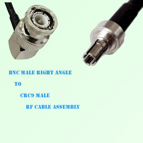 BNC Male Right Angle to CRC9 Male RF Cable Assembly