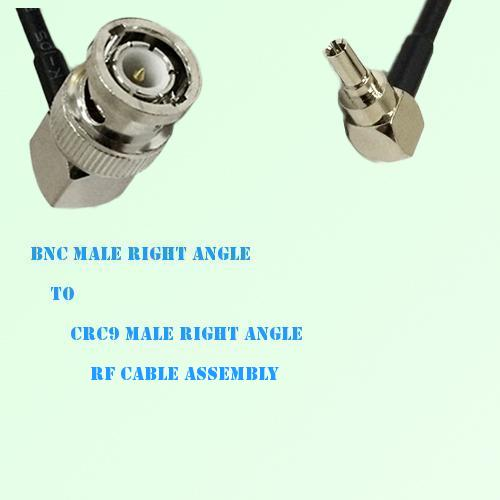 BNC Male Right Angle to CRC9 Male Right Angle RF Cable Assembly