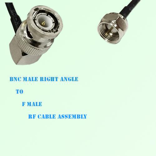 BNC Male Right Angle to F Male RF Cable Assembly
