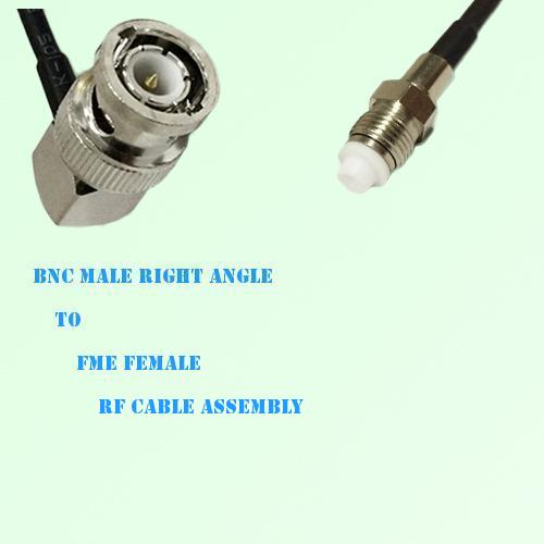 BNC Male Right Angle to FME Female RF Cable Assembly