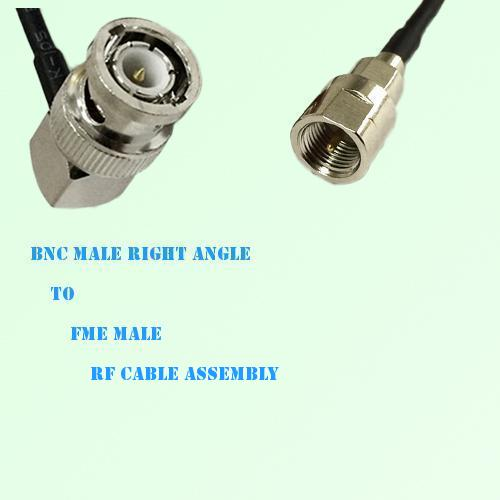BNC Male Right Angle to FME Male RF Cable Assembly