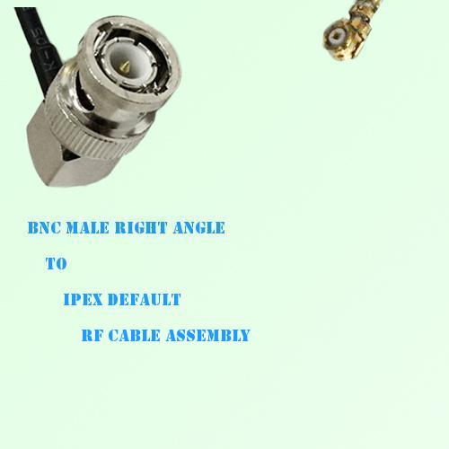BNC Male Right Angle to IPEX RF Cable Assembly