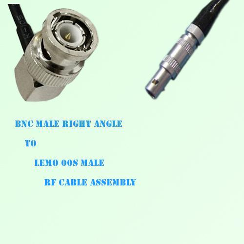 BNC Male Right Angle to Lemo FFA 00S Male RF Cable Assembly