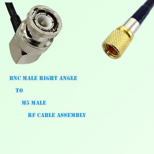 BNC Male Right Angle to Microdot 10-32 M5 Male RF Cable Assembly