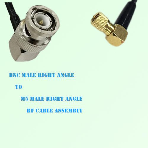 BNC Male R/A to Microdot 10-32 M5 Male R/A RF Cable Assembly