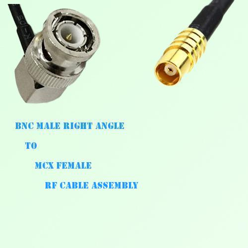 BNC Male Right Angle to MCX Female RF Cable Assembly