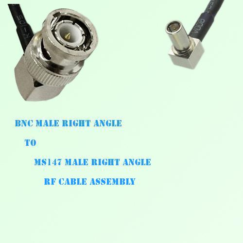 BNC Male Right Angle to MS147 Male Right Angle RF Cable Assembly