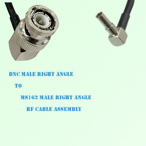 BNC Male Right Angle to MS162 Male Right Angle RF Cable Assembly