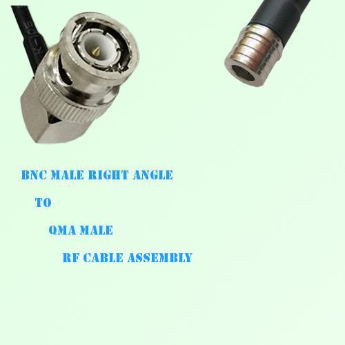 BNC Male Right Angle to QMA Male RF Cable Assembly