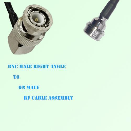 BNC Male Right Angle to QN Male RF Cable Assembly