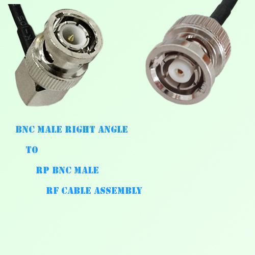 BNC Male Right Angle to RP BNC Male RF Cable Assembly