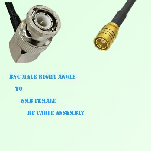BNC Male Right Angle to SMB Female RF Cable Assembly