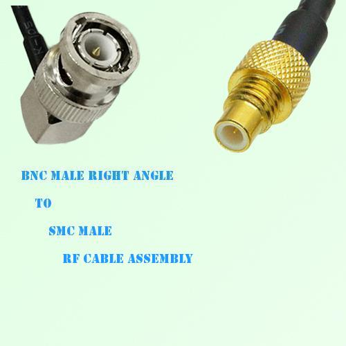 BNC Male Right Angle to SMC Male RF Cable Assembly