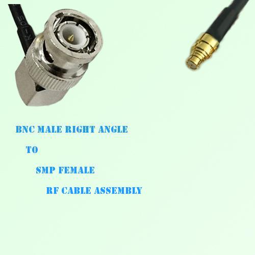 BNC Male Right Angle to SMP Female RF Cable Assembly
