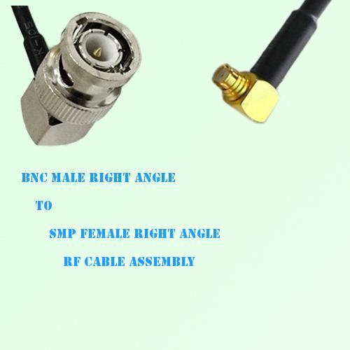 BNC Male Right Angle to SMP Female Right Angle RF Cable Assembly