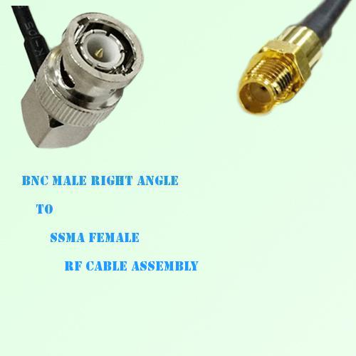 BNC Male Right Angle to SSMA Female RF Cable Assembly