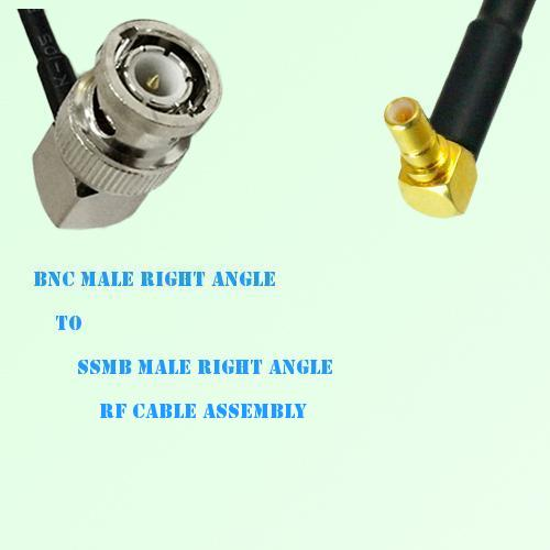 BNC Male Right Angle to SSMB Male Right Angle RF Cable Assembly