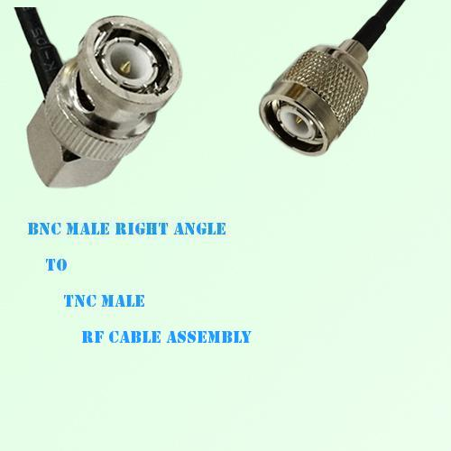 BNC Male Right Angle to TNC Male RF Cable Assembly
