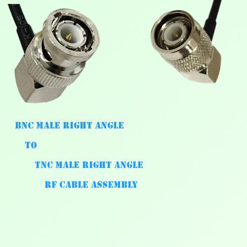 BNC Male Right Angle to TNC Male Right Angle RF Cable Assembly