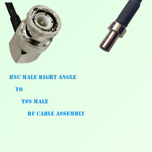 BNC Male Right Angle to TS9 Male RF Cable Assembly