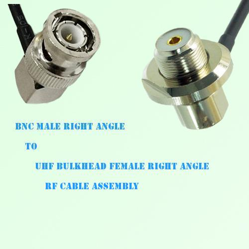 BNC Male R/A to UHF Bulkhead Female R/A RF Cable Assembly