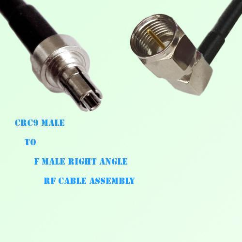 CRC9 Male to F Male Right Angle RF Cable Assembly