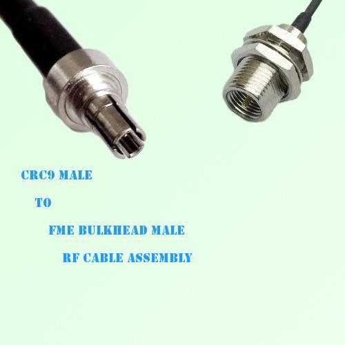 CRC9 Male to FME Bulkhead Male RF Cable Assembly