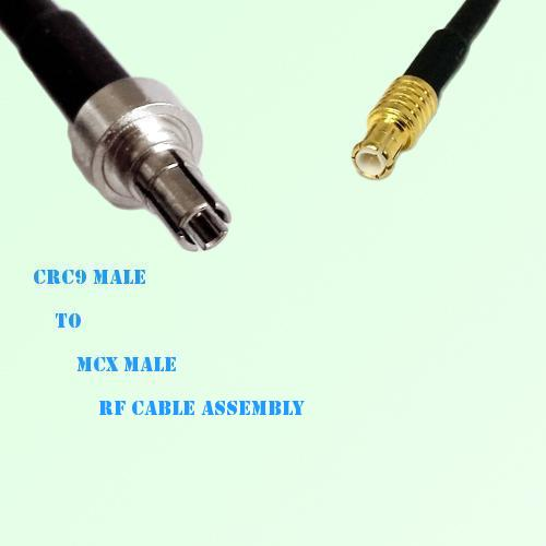 CRC9 Male to MCX Male RF Cable Assembly