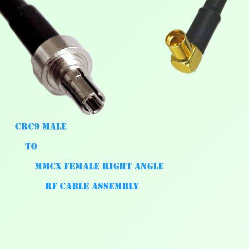 CRC9 Male to MMCX Female Right Angle RF Cable Assembly