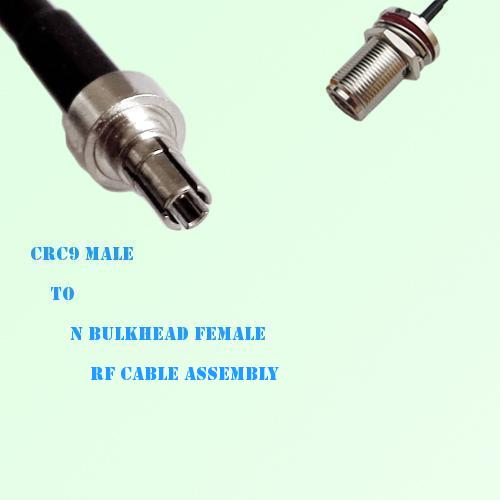 CRC9 Male to N Bulkhead Female RF Cable Assembly