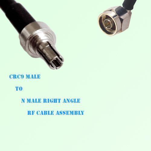 CRC9 Male to N Male Right Angle RF Cable Assembly