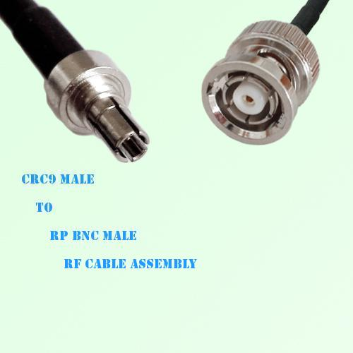 CRC9 Male to RP BNC Male RF Cable Assembly