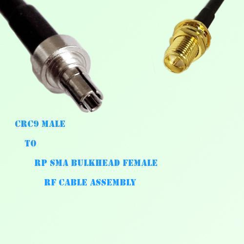 CRC9 Male to RP SMA Bulkhead Female RF Cable Assembly