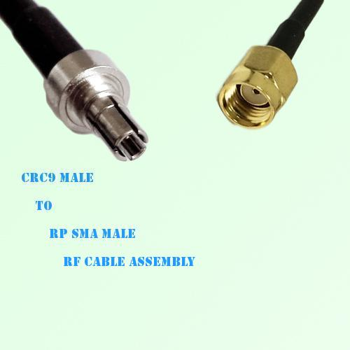 CRC9 Male to RP SMA Male RF Cable Assembly