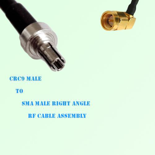 CRC9 Male to SMA Male Right Angle RF Cable Assembly