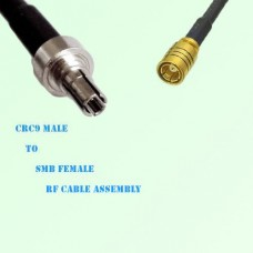 CRC9 Male to SMB Female RF Cable Assembly