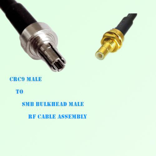 CRC9 Male to SMB Bulkhead Male RF Cable Assembly