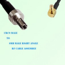 CRC9 Male to SMB Male Right Angle RF Cable Assembly