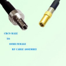 CRC9 Male to SSMB Female RF Cable Assembly