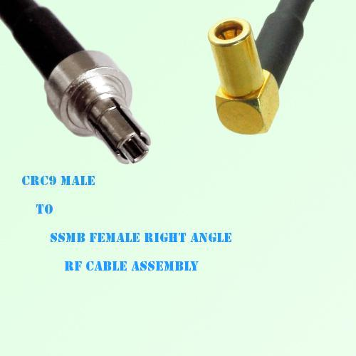 CRC9 Male to SSMB Female Right Angle RF Cable Assembly